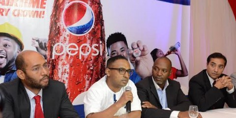 L-R:  General Manager, Value Added Services, Airtel Nigeria Mr. Victor Bannerman-Chedid; Head of Marketing, Seven-Up Bottling Company, Mr. Norden Thurston; General Manager, Mass Market, Airtel Nigeria, Wole Abu and Senior Marketing Manager, PepsiCo , Mr. Shakeel Akram at a Press Conference to unveil Pepsi/Airtel consumer promo in Lagos  on Wednesday.
