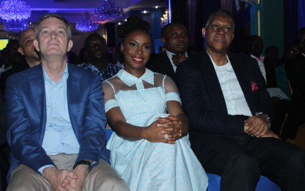 Managing Director/Chief Executive Officer, Nigerian Breweries Plc, Mr. Nicolaas Vervelde; Workshop facilitator and renowed Nigerian writer, Chimamanda Adichie and former Minister of Foreign Affairs, Mr. Odein Ajumogobia