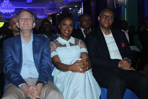Managing Director/Chief Executive Officer, Nigerian Breweries Plc, Mr. Nicolaas Vervelde; Workshop facilitator and renowed Nigerian writer, Chimamanda Adichie and former Minister of Foreign Affairs, Mr. Odein Ajumogobia
